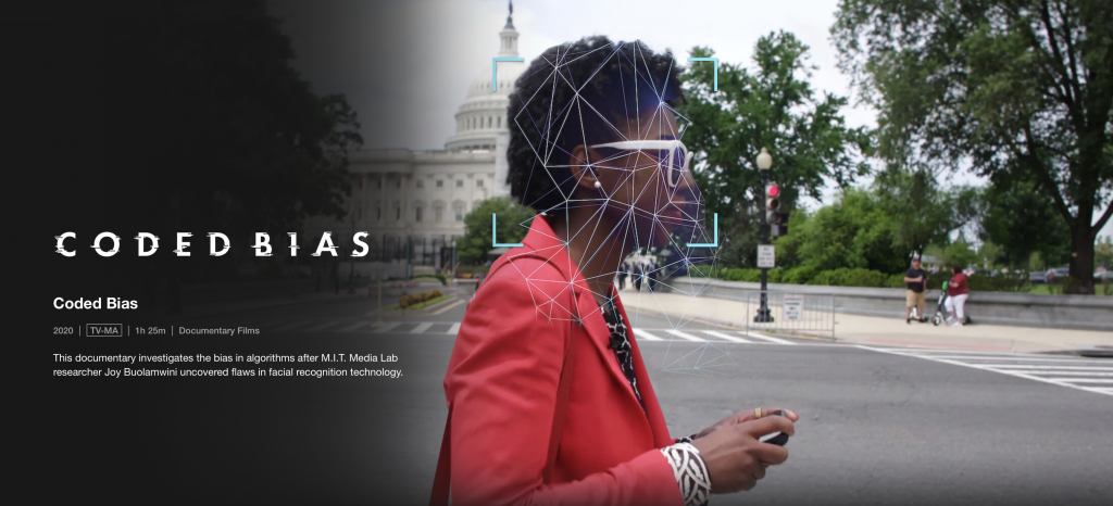 Still from Coded Bias, a documentary on Netflix